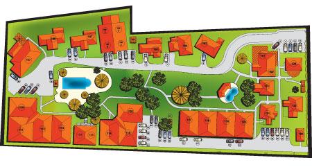 Residencia Los Jardines Site Plan